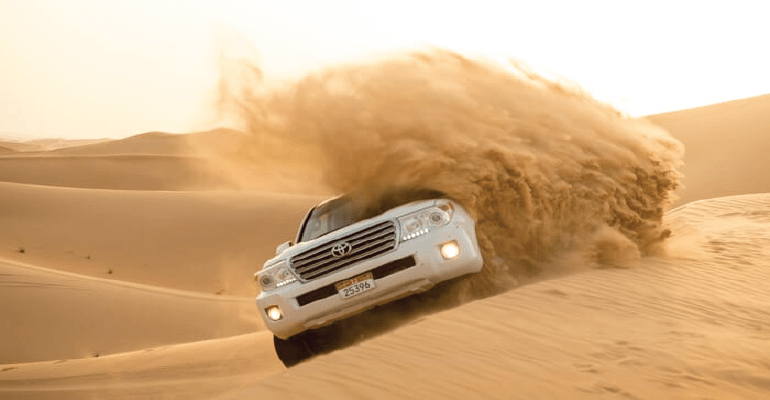 land cruiser in desert