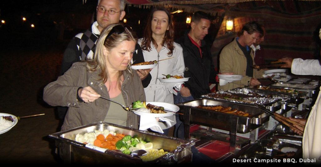 Image result for dinner at campsite in abu dhabi bbq